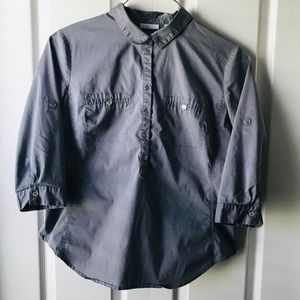 New York & Co 3/4 sleeve gray blouse